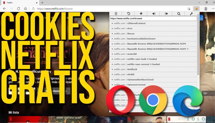 COOKIES NETFLIX GRATIS 2021